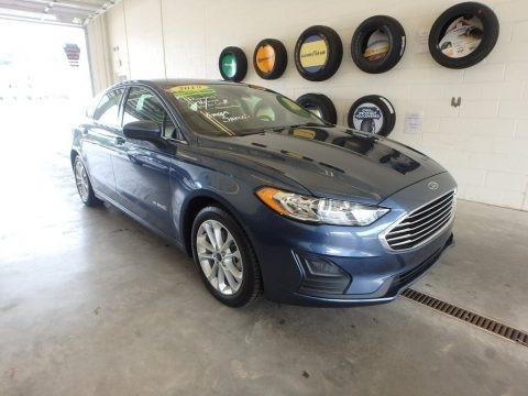 Blue Metallic 2019 Ford Fusion Hybrid SE