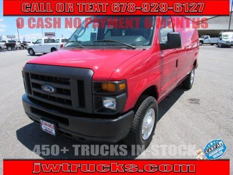 Vermillion Red 2013 Ford E Series Van E250 Cargo