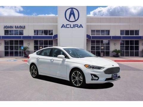 White Platinum 2019 Ford Fusion Titanium AWD