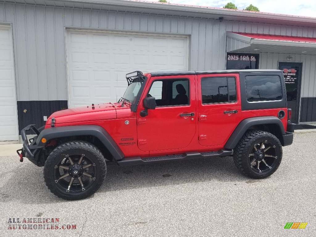 2015 Wrangler Unlimited Sport 4x4 - Firecracker Red / Black photo #1
