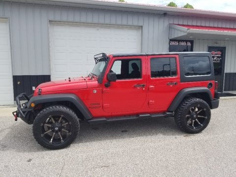 Firecracker Red 2015 Jeep Wrangler Unlimited Sport 4x4