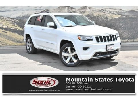 Bright White 2015 Jeep Grand Cherokee Overland 4x4