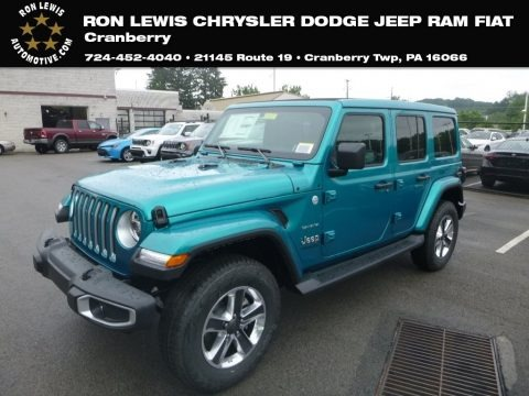 Ocean Blue Metallic 2019 Jeep Wrangler Unlimited Sahara 4x4