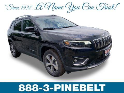 Diamond Black Crystal Pearl 2019 Jeep Cherokee Limited 4x4