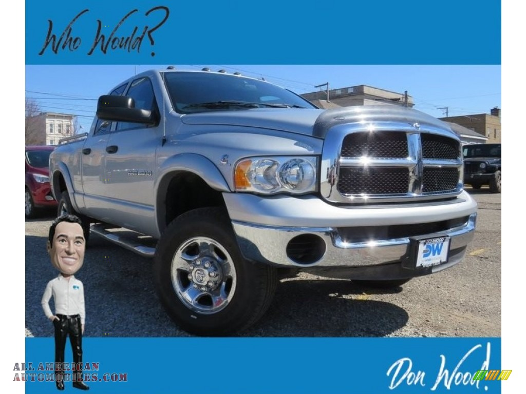 2004 Ram 2500 SLT Quad Cab 4x4 - Bright Silver Metallic / Dark Slate Gray photo #1