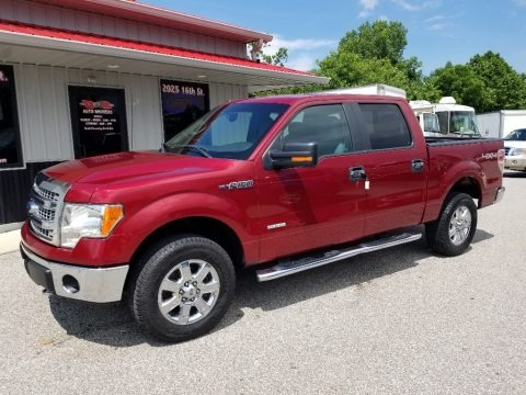 Ruby Red Metallic 2013 Ford F150 XLT SuperCrew 4x4