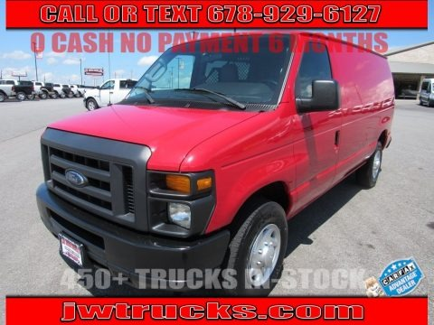 Vermillion Red 2013 Ford E Series Van E250 Cargo
