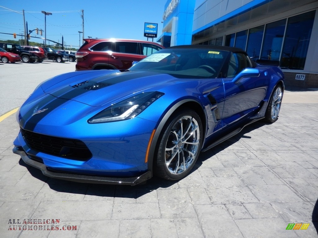 Elkhart Lake Blue Metallic / Gray Chevrolet Corvette Grand Sport Convertible