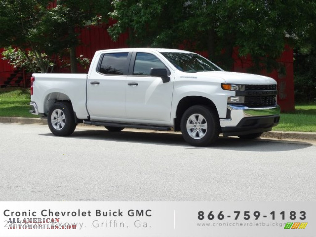 Summit White / Jet Black Chevrolet Silverado 1500 WT Double Cab