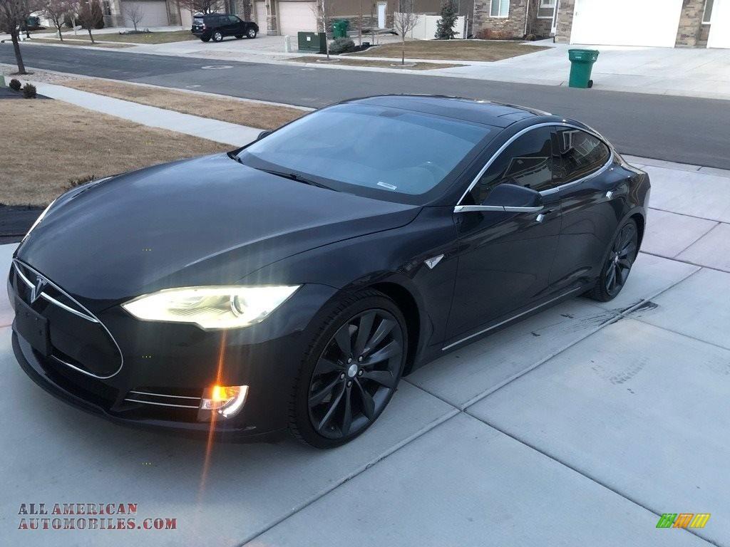 2012 Model S  - Monterey Blue Metallic / Black photo #1