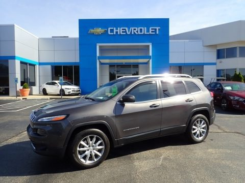 Granite Crystal Metallic 2018 Jeep Cherokee Limited 4x4