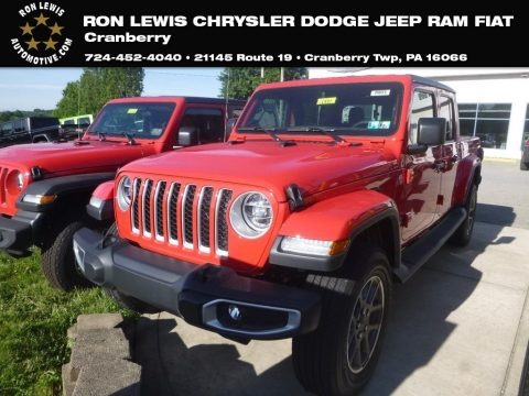 Firecracker Red 2020 Jeep Gladiator Overland 4x4