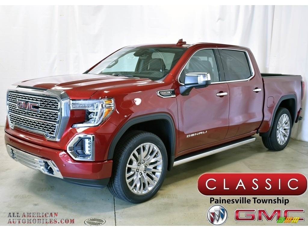 2019 Sierra 1500 Denali Crew Cab 4WD - Red Quartz Tintcoat / Jet Black photo #1
