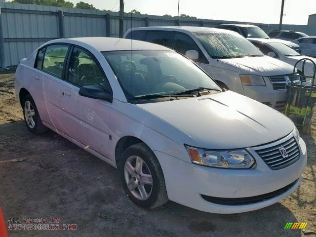 2007 ION 2 Sedan - Polar White / Tan photo #1