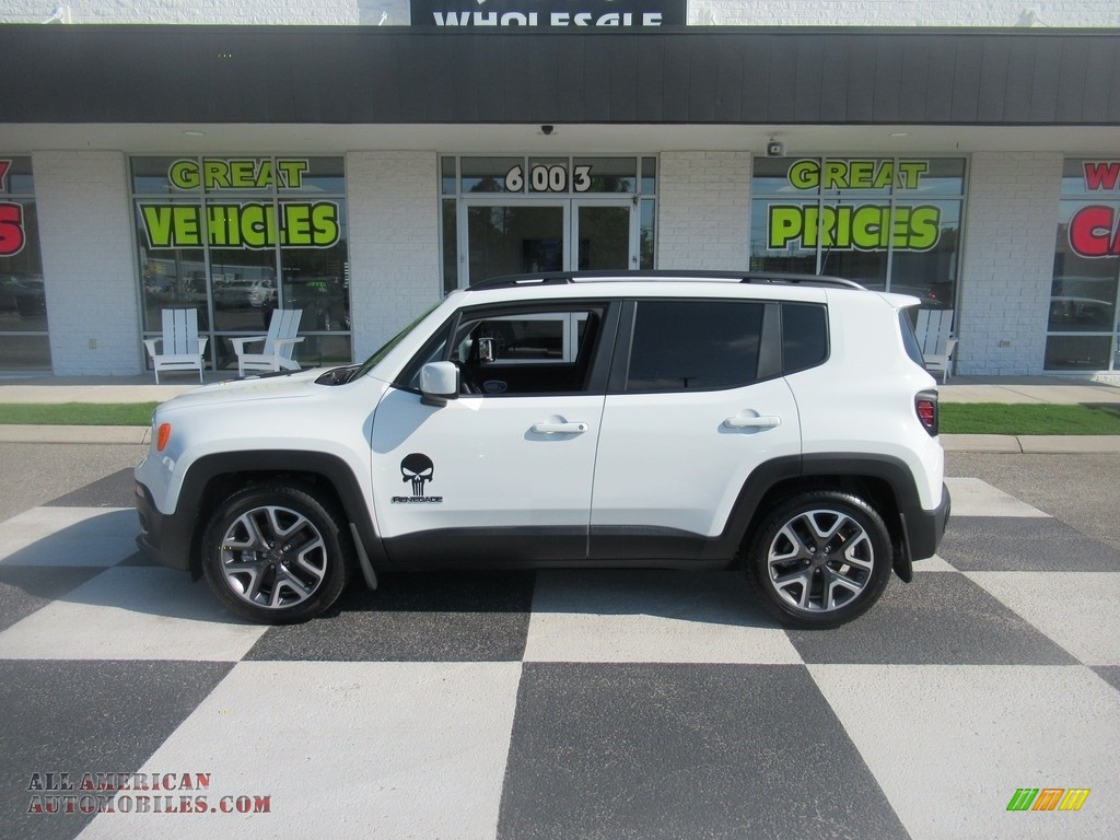 2018 Renegade Latitude - Alpine White / Black photo #1