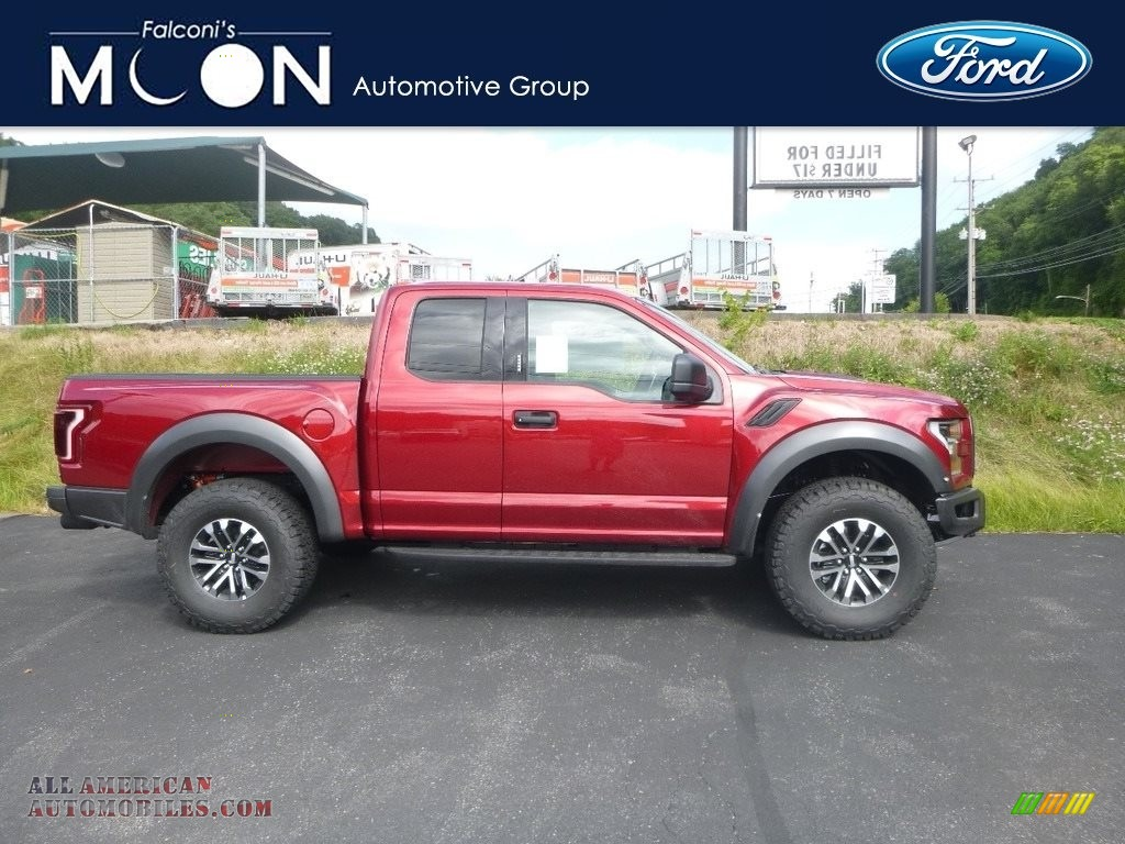 Ruby Red / Black Ford F150 SVT Raptor SuperCab 4x4
