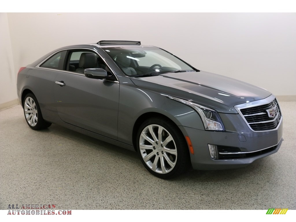 Satin Steel Metallic / Light Platinum Cadillac ATS Luxury AWD