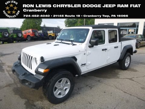 Bright White 2020 Jeep Gladiator Sport 4x4
