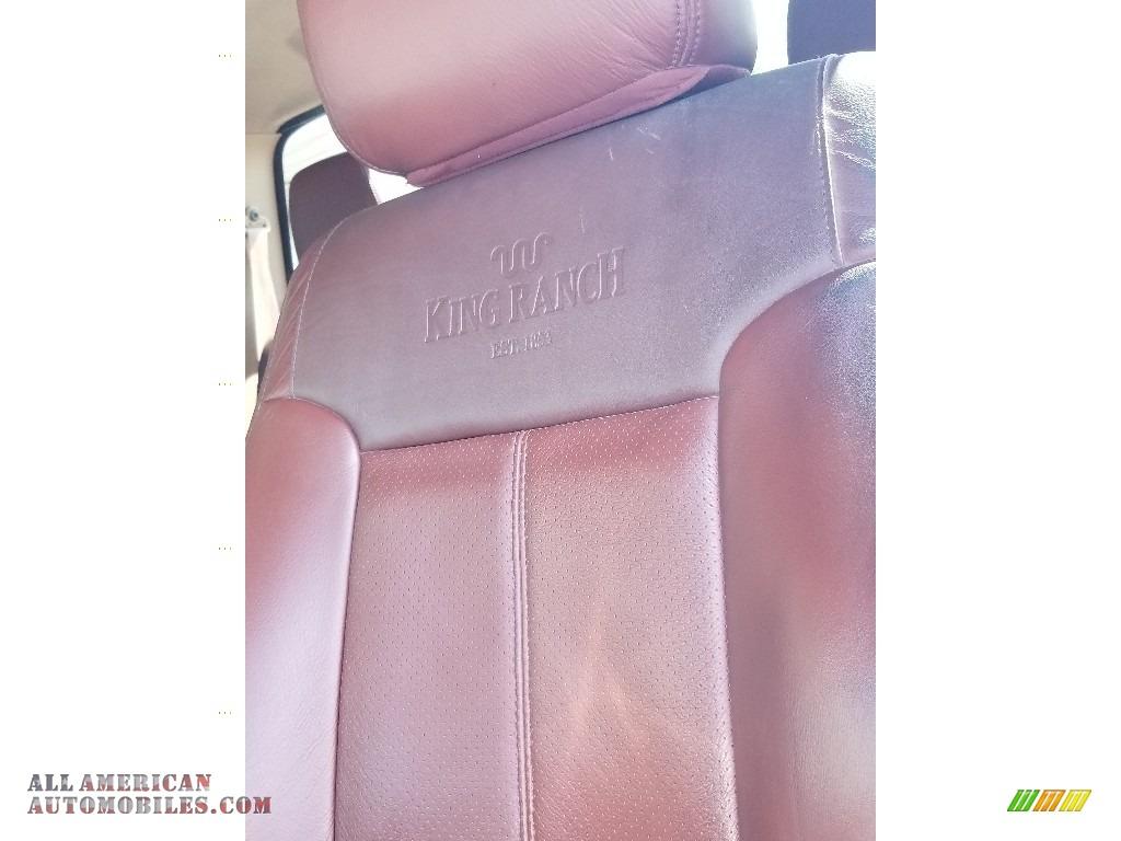 2014 F350 Super Duty Lariat Crew Cab 4x4 - Oxford White / Platinum Pecan Leather photo #21