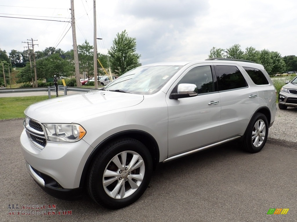 2011 Durango Crew 4x4 - Bright Silver Metallic / Black photo #1