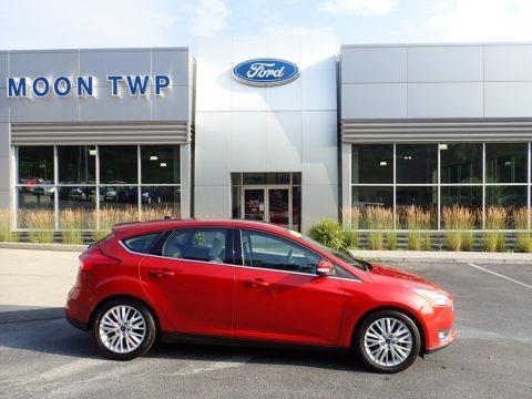Hot Pepper Red 2018 Ford Focus Titanium Hatch