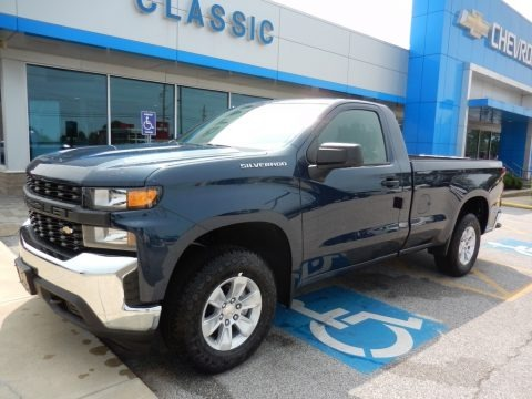 Northsky Blue Metallic 2019 Chevrolet Silverado 1500 WT Regular Cab 4WD