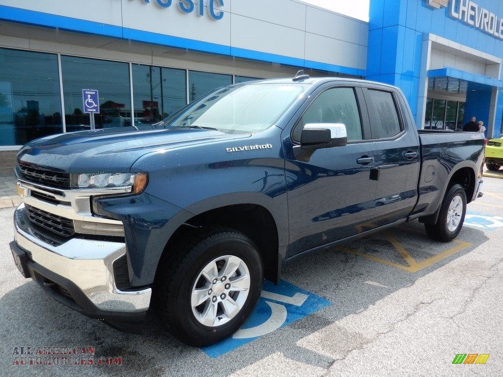 Northsky Blue Metallic / Dark Ash/Jet Black Chevrolet Silverado 1500 LT Double Cab 4WD