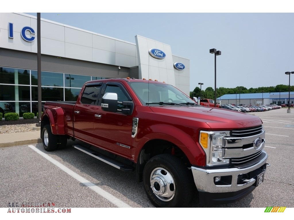 2017 F350 Super Duty Lariat Crew Cab 4x4 - Ruby Red / Black photo #1