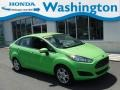 Ford Fiesta SE Sedan Green Envy photo #1