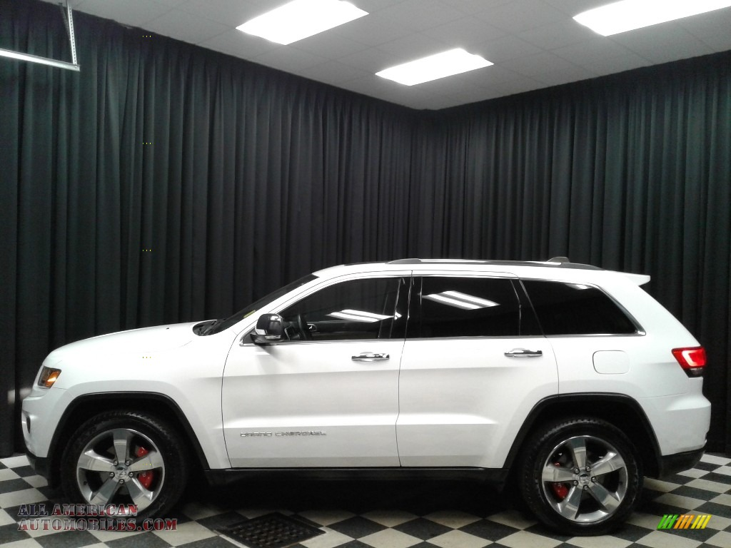 2014 Grand Cherokee Limited 4x4 - Bright White / New Zealand Black/Light Frost photo #1