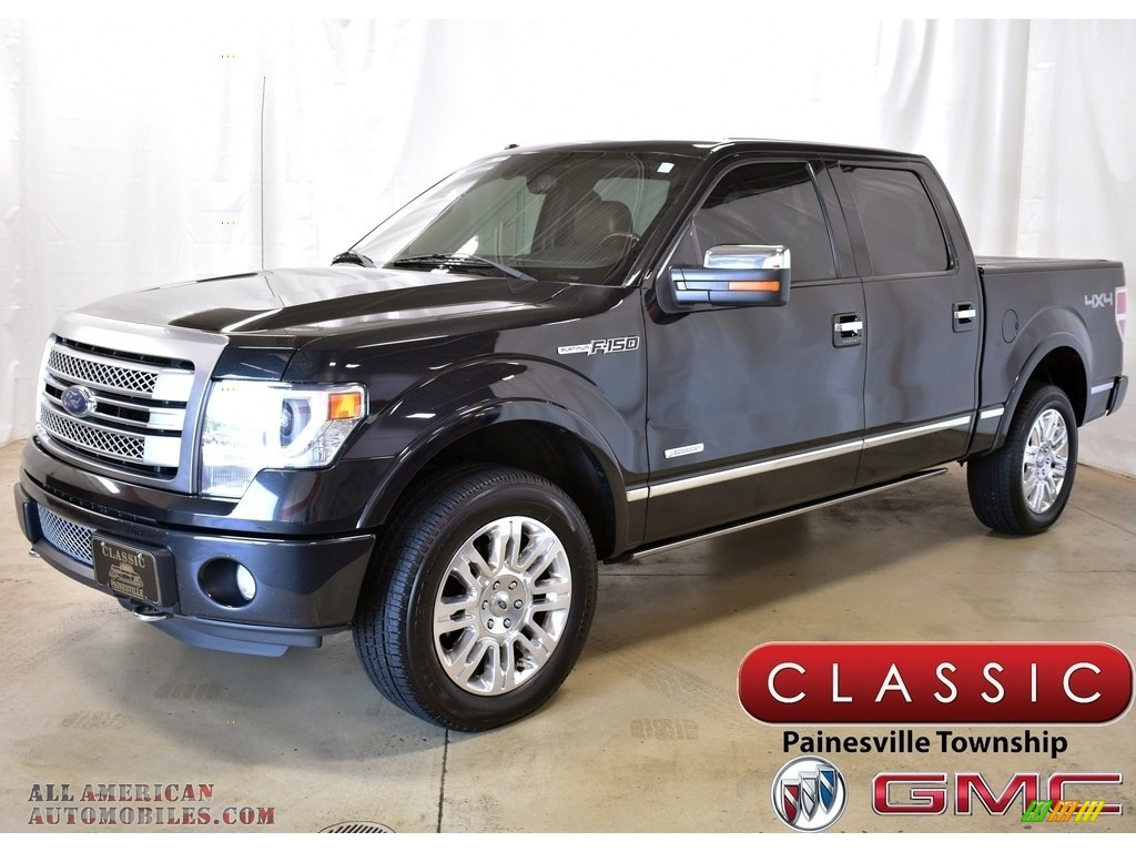 2013 F150 Platinum SuperCrew 4x4 - Tuxedo Black Metallic / Platinum Unique Pecan Leather photo #1