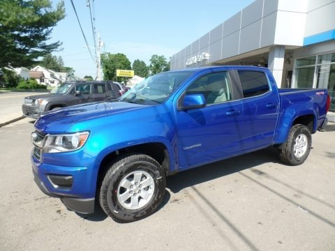 Kinetic Blue Metallic 2019 Chevrolet Colorado WT Crew Cab 4x4