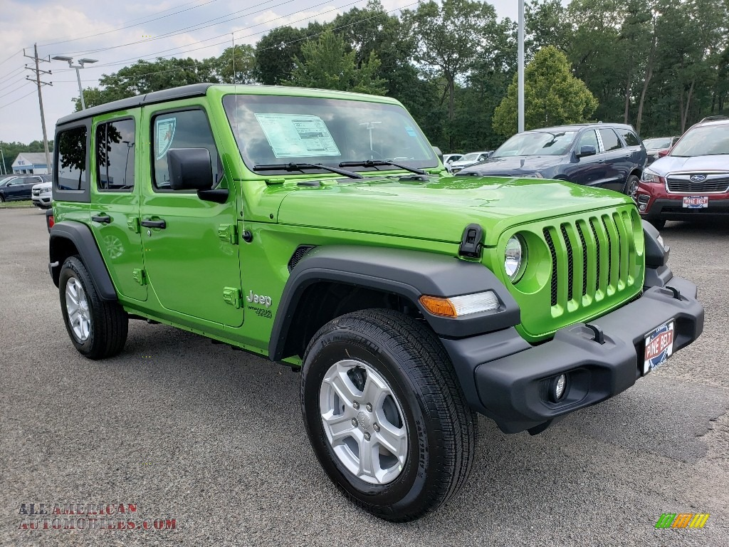 2019 Wrangler Unlimited Sport 4x4 - Mojito! / Black photo #1