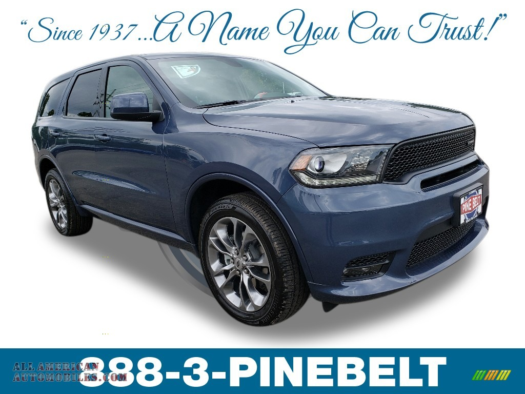 2019 Durango GT AWD - Reactor Blue / Black photo #1