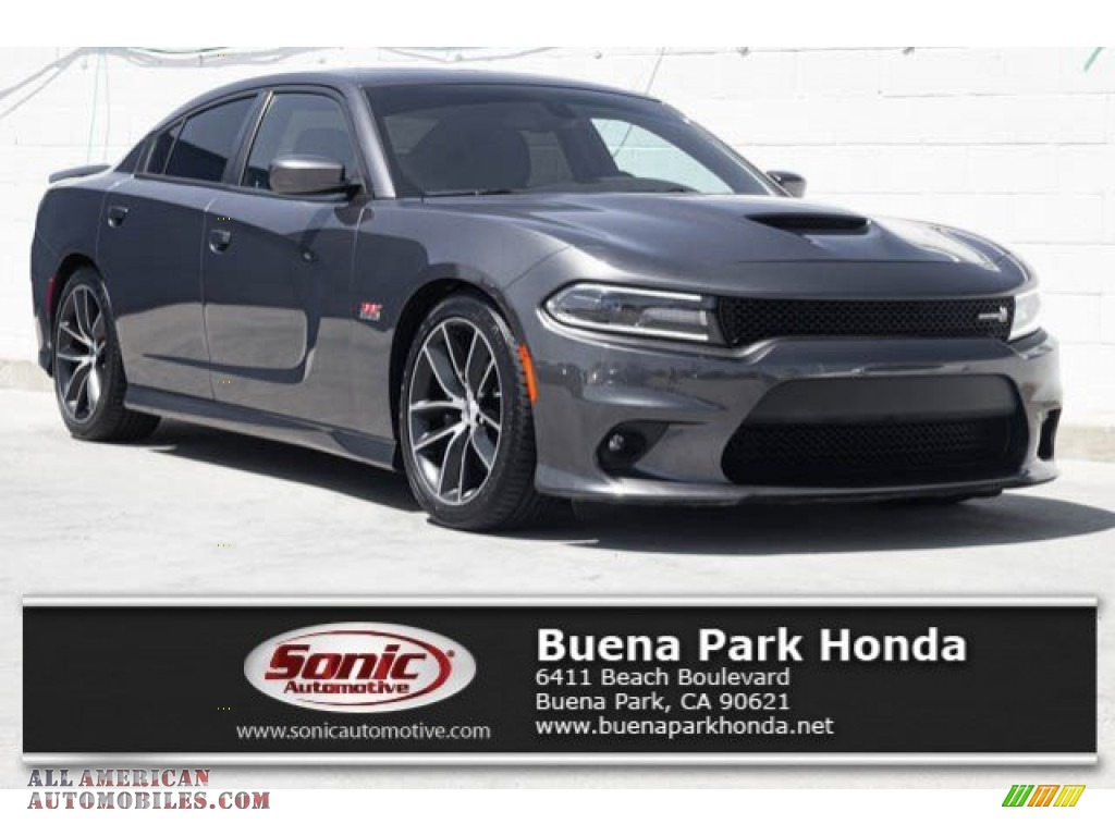 2018 Charger R/T Scat Pack - Granite Pearl / Black photo #1
