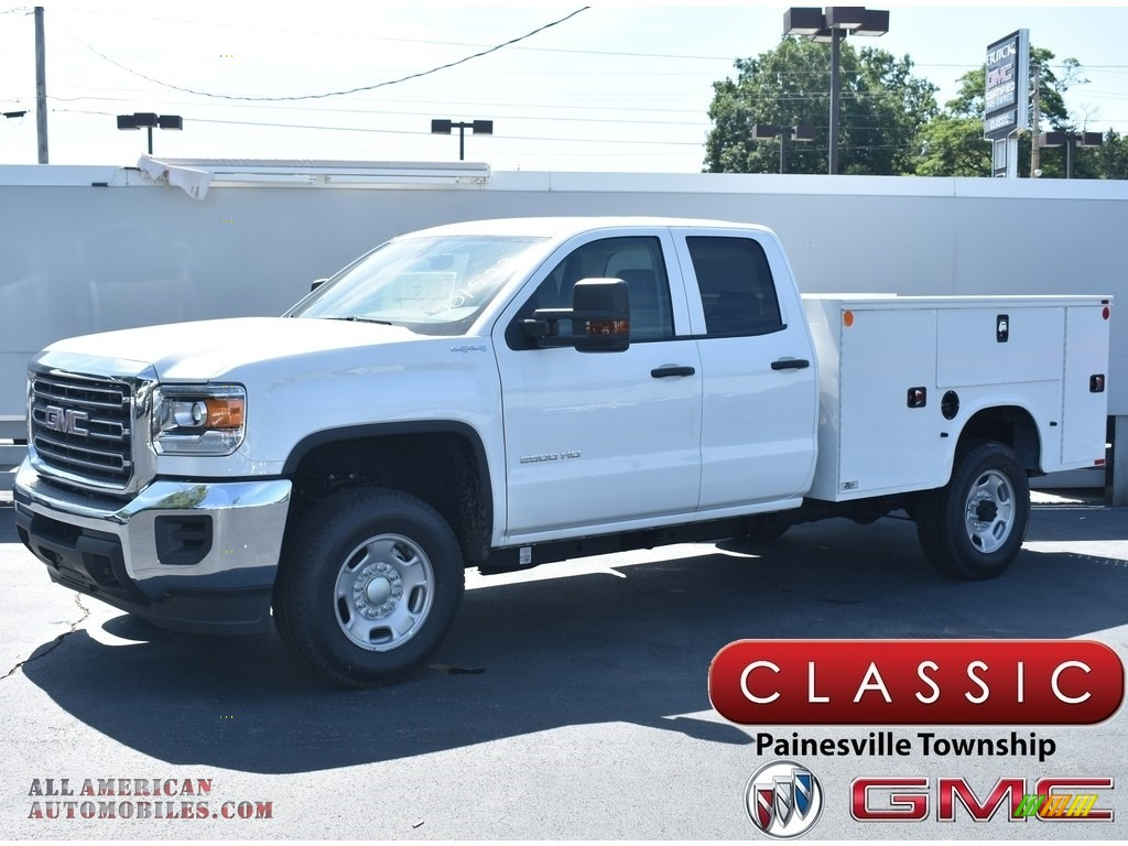 2019 Sierra 2500HD Double Cab 4WD Utility - Summit White / Jet Black/­Dark Ash photo #1