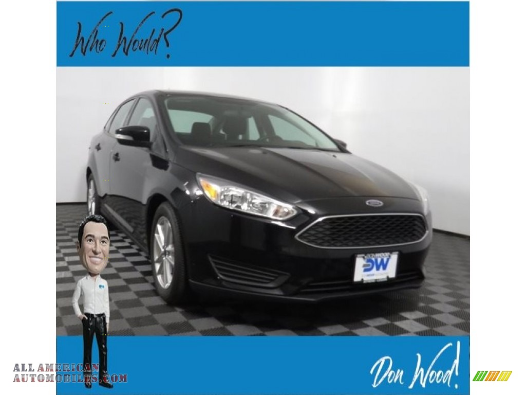 2016 Focus SE Sedan - Shadow Black / Charcoal Black photo #1