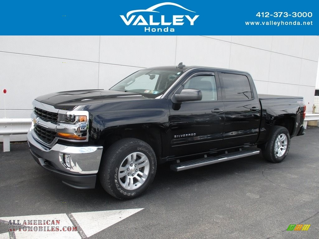 2017 Silverado 1500 LT Crew Cab 4x4 - Black / Jet Black photo #1