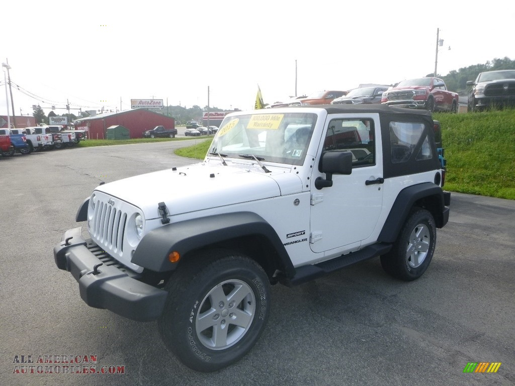 2015 Wrangler Sport 4x4 - Bright White / Black photo #1