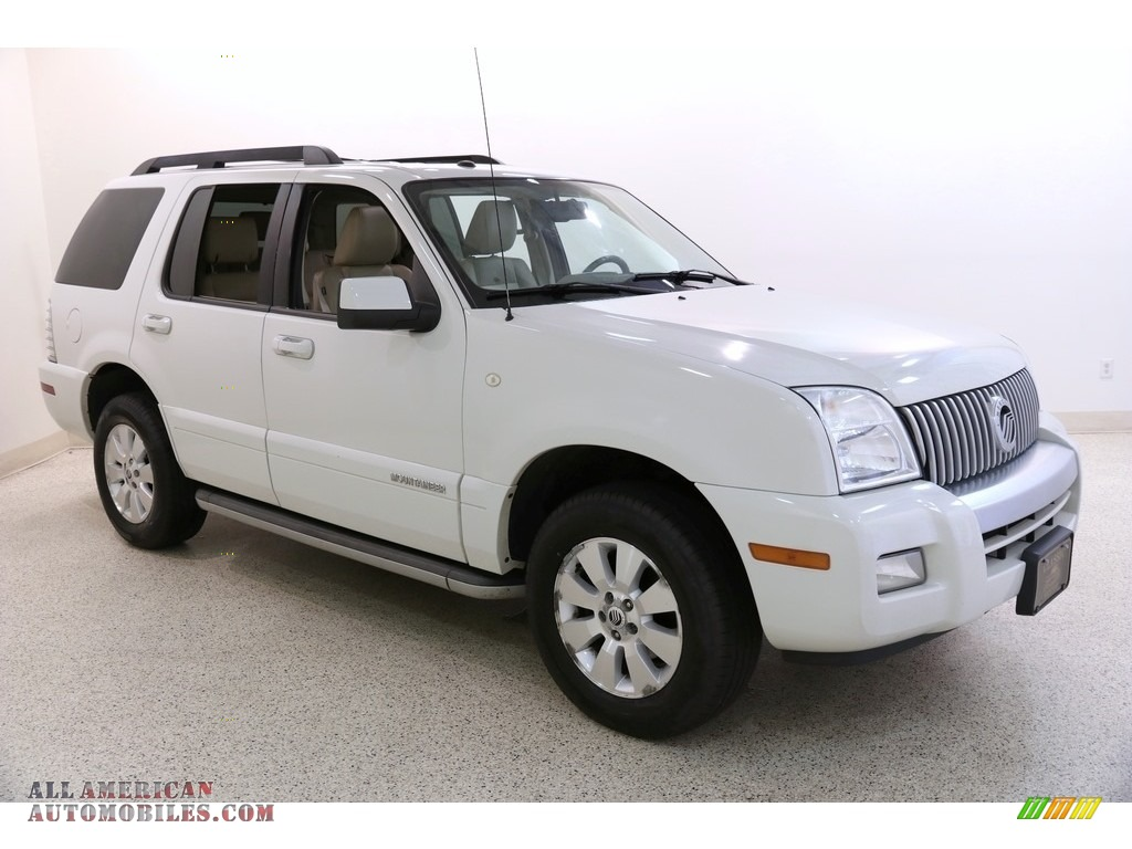 2010 Mountaineer V6 AWD - White Suede / Camel photo #1