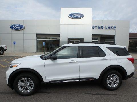 Oxford White 2020 Ford Explorer XLT 4WD
