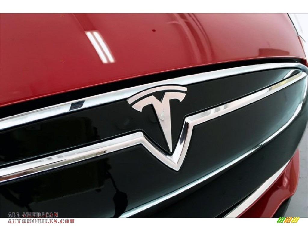 2013 Model S P85 Performance - Red Tesla Multi-Coat / Tan photo #32