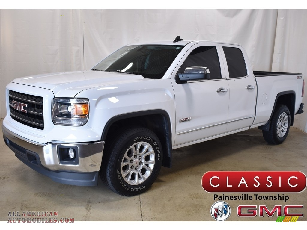 Summit White / Jet Black GMC Sierra 1500 SLE Double Cab 4x4