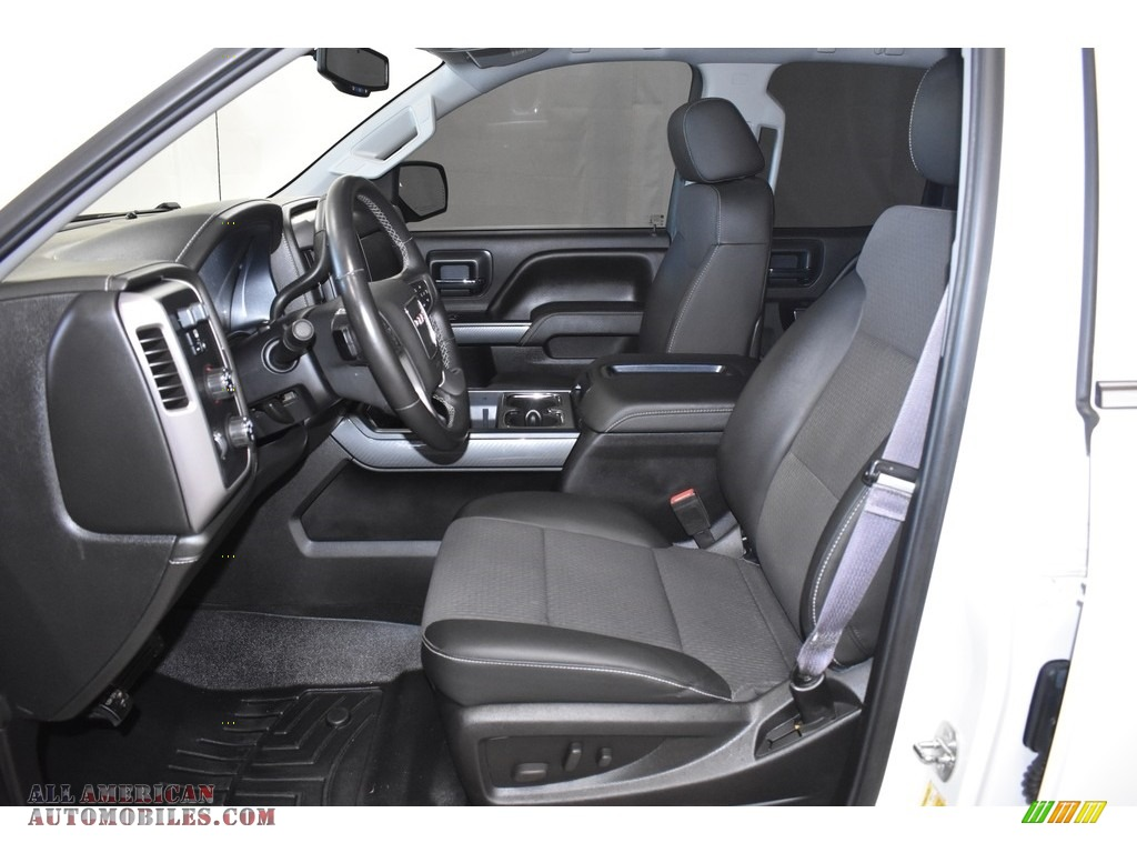 2015 Sierra 1500 SLE Double Cab 4x4 - Summit White / Jet Black photo #7