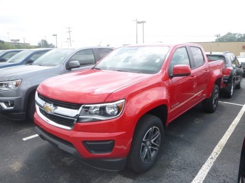 Red Hot 2019 Chevrolet Colorado WT Crew Cab 4x4