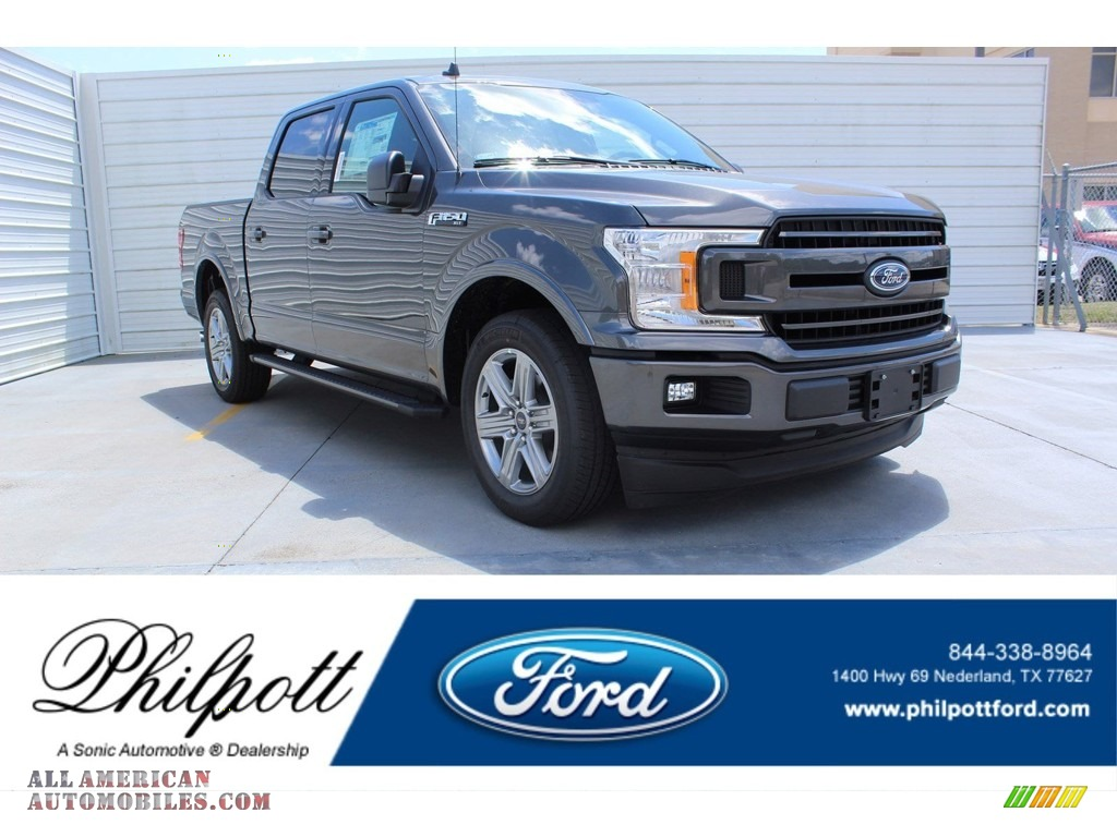 2019 F150 XLT SuperCrew - Magnetic / Black photo #1