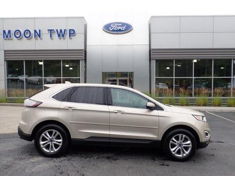 White Gold Metallic 2017 Ford Edge SEL AWD