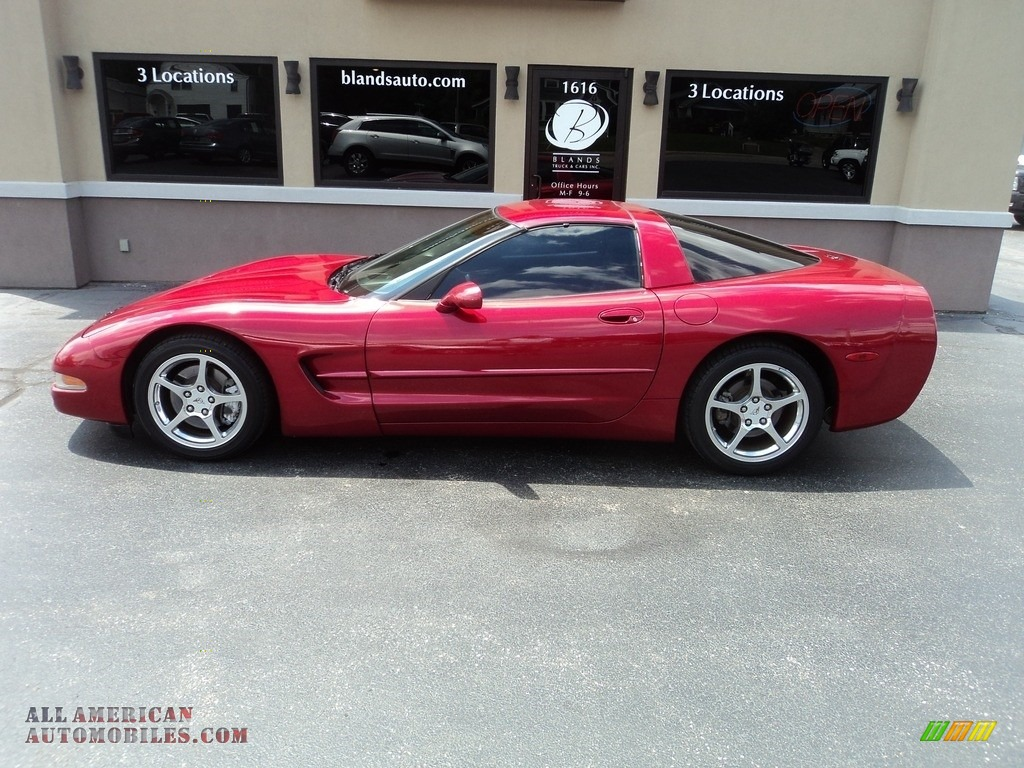 2004 Corvette Coupe - Magnetic Red Metallic / Black photo #1
