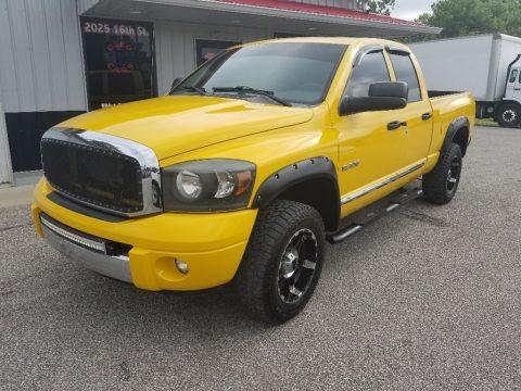 Detonator Yellow 2008 Dodge Ram 1500 Laramie Quad Cab 4x4