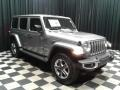Jeep Wrangler Unlimited Sahara 4x4 Billet Silver Metallic photo #4